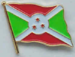 Burundi Country Flag Enamel Pin Badge